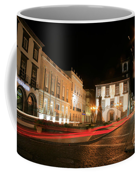 Azores Coffee Mug featuring the photograph Ponta Delgada At Night by Gaspar Avila