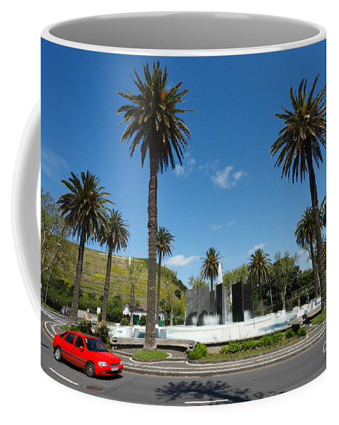 Roundabout Coffee Mug featuring the photograph Ponta Delgada by Gaspar Avila