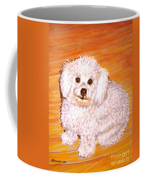 Dog Coffee Mug featuring the painting Poodle by Patricia L Davidson