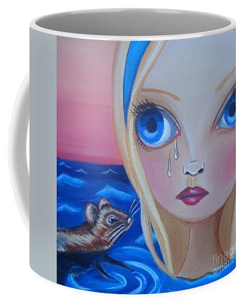Pool Of Tears Coffee Mug featuring the painting Pool Of Tears by Jaz Higgins