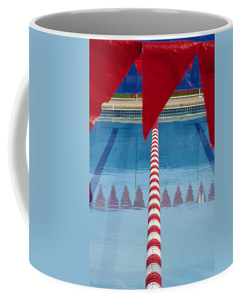 Flag Coffee Mug featuring the photograph Pool by Skip Hunt