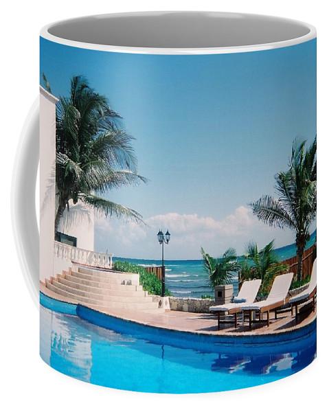 Resort Coffee Mug featuring the photograph Poolside by Anita Burgermeister
