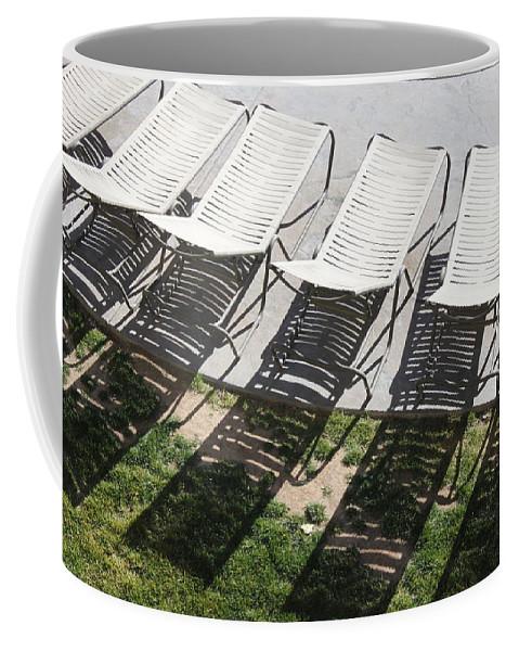 Pool Coffee Mug featuring the photograph Poolside by Lauri Novak