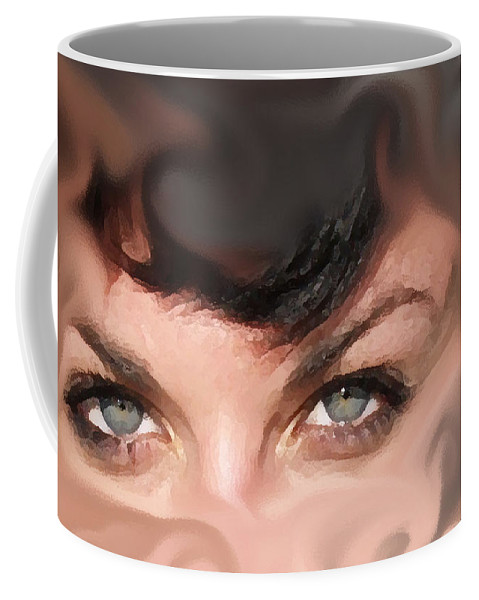 Eyes Coffee Mug featuring the photograph Pop Art Eyes by Heather Coen
