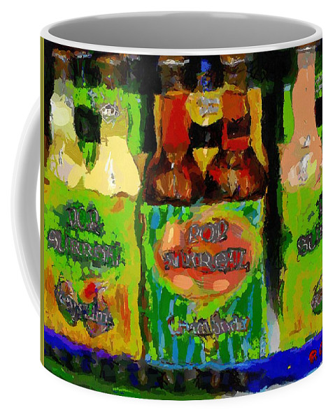 Bottles Coffee Mug featuring the painting Pop Goes The Surrealism by RC DeWinter