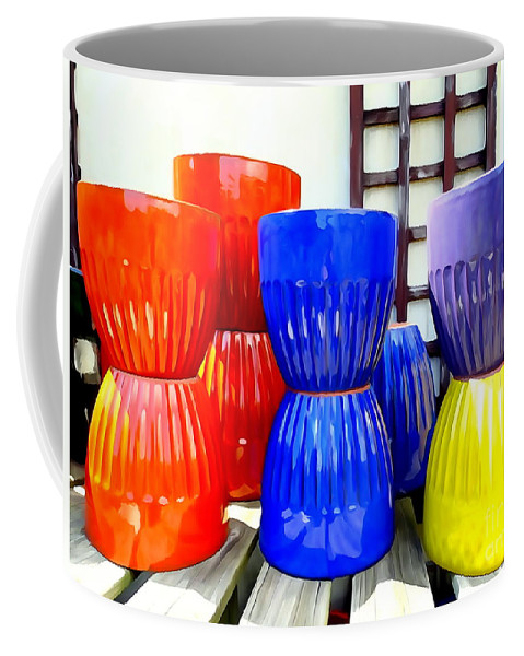 Digital Coffee Mug featuring the photograph Pop Planters by Ed Weidman