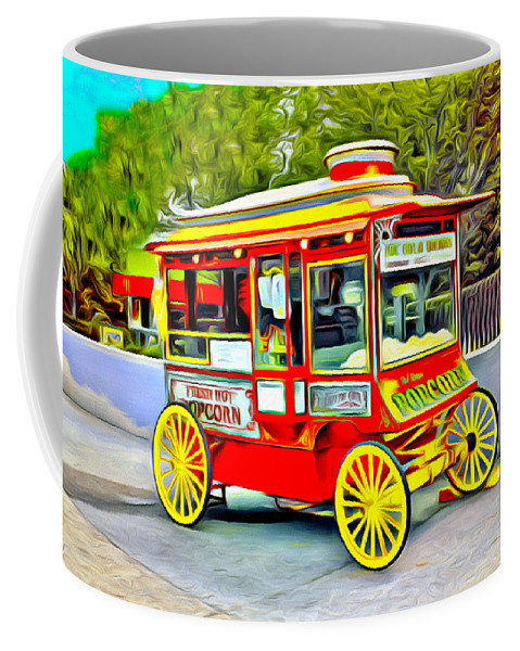 Carriage Coffee Mug featuring the photograph Popcorn by Carlos Diaz