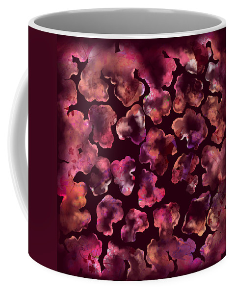 Abstract Coffee Mug featuring the digital art Popcorn Extreme by Rachel Christine Nowicki
