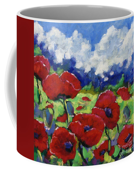 Art Coffee Mug featuring the painting Poppies 003 by Richard T Pranke