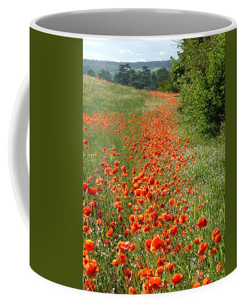 Poppies Coffee Mug featuring the photograph Poppies Awash by Bob Kemp