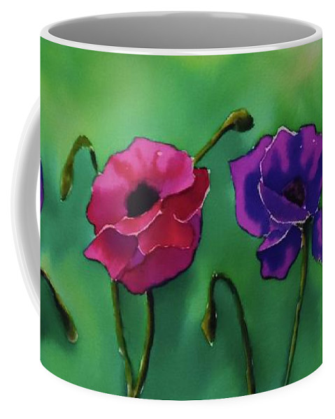 Poppy Coffee Mug featuring the painting Poppies by Camille Brighten