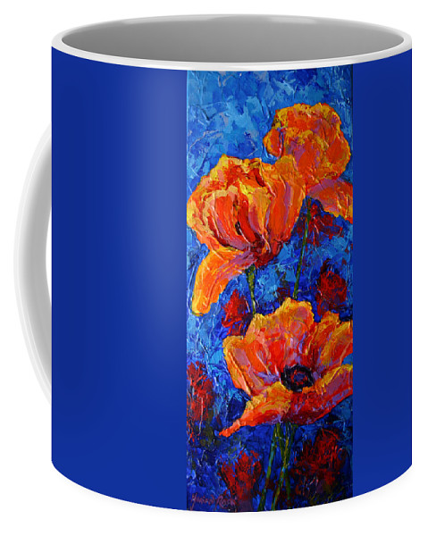 Poppies Coffee Mug featuring the painting Poppies II by Marion Rose