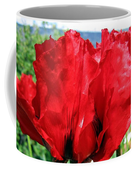 Poppies Coffee Mug featuring the photograph Poppies Plus by Will Borden