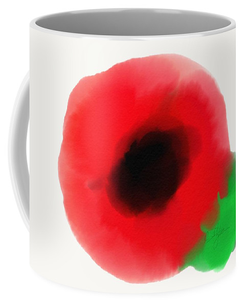 Painting Coffee Mug featuring the painting Poppy by Cristina Stefan