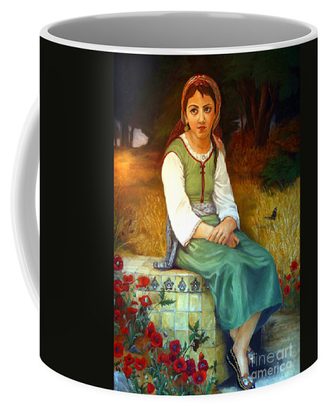 Landscape Painting Coffee Mug featuring the painting Poppy Field by Portraits By NC