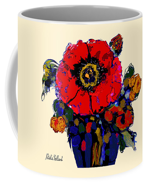 Poppy Coffee Mug featuring the painting Poppy Passion by Natalie Holland