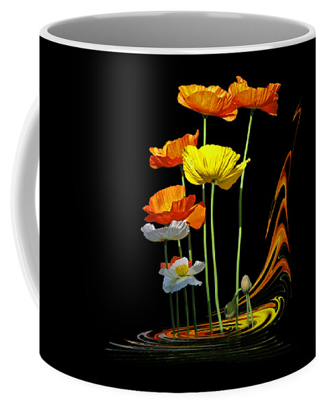 Poppies Coffee Mug featuring the photograph Poppy Pirouette by Gill Billington