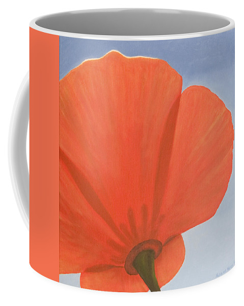 Flower Coffee Mug featuring the painting Poppy by Rob De Vries