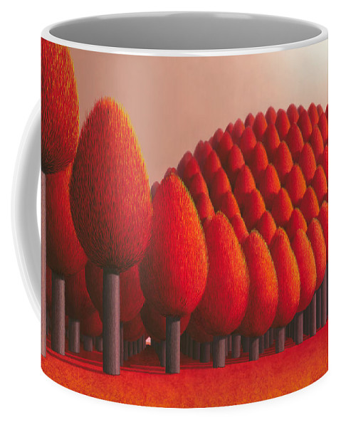 Tree Coffee Mug featuring the painting Populus Flucta by Patricia Van Lubeck