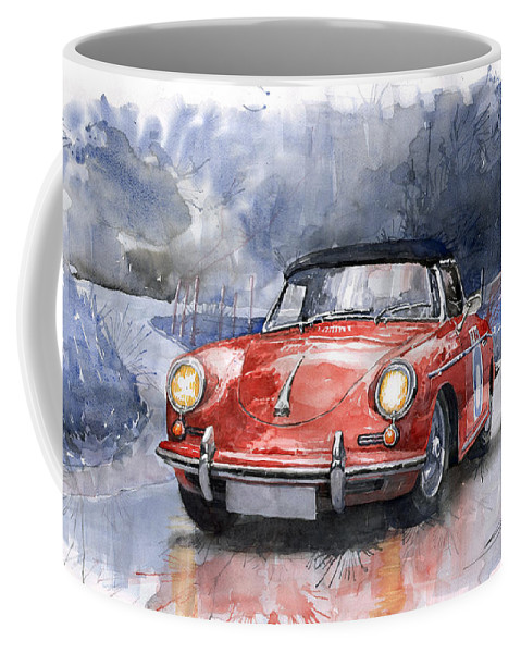 Auto Coffee Mug featuring the painting Porsche 356 B Roadster by Yuriy Shevchuk