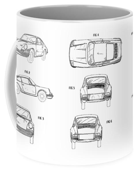 Porsche 911 Patent Coffee Mug featuring the photograph Porsche 911 Patent by Mark Rogan
