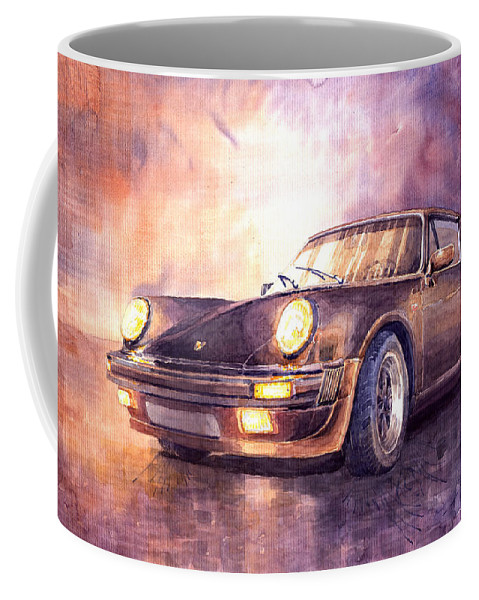 Auto Coffee Mug featuring the painting Porsche 911 Turbo 1979 by Yuriy Shevchuk