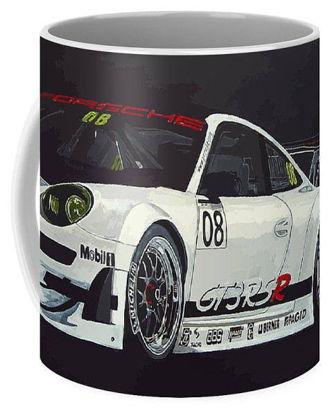 Car Coffee Mug featuring the painting Porsche Gt3 Rsr by Richard Le Page