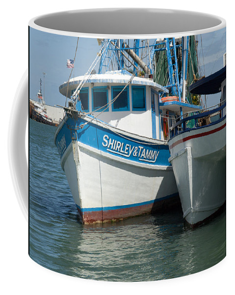 Florida; Usa; Boat; Fishing; Boats; Party; Shrimp; Shrimper; Shrimp; Port; Harbor; Harbour; Canavera Coffee Mug featuring the photograph Port Canaveral In Florida by Allan Hughes