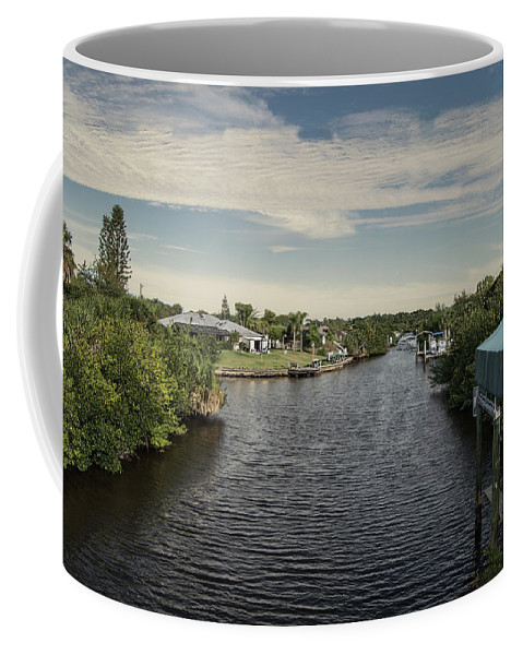 Florida Coffee Mug featuring the photograph Port Charlotte Atlantus Waterway From Ohara by Don Kerr