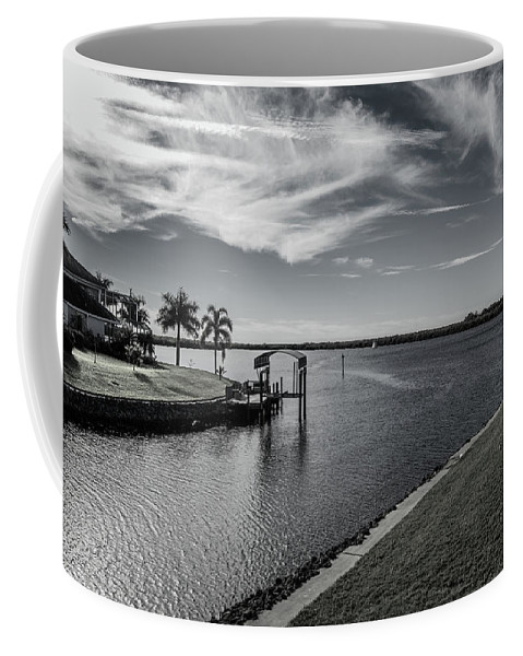 Florida Coffee Mug featuring the photograph Port Charlotte Bay Harbor Waterway From Ohara by Don Kerr