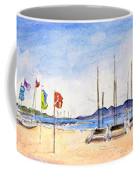 Travel Coffee Mug featuring the painting Port De Pollenca 02 by Miki De Goodaboom