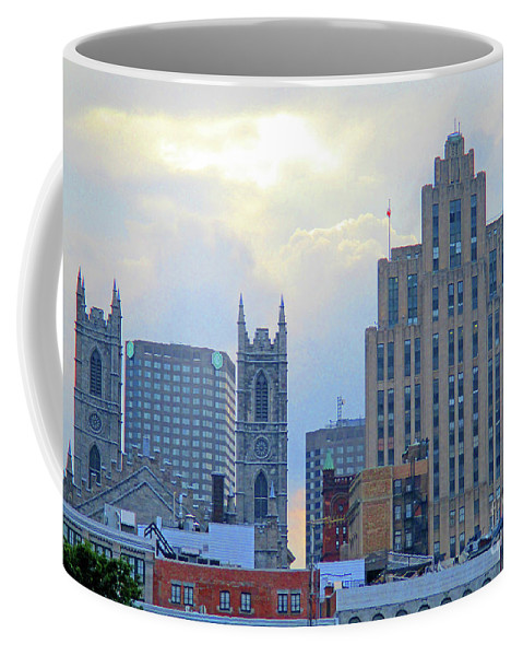 Montreal Coffee Mug featuring the photograph Port Of Montreal Skyline by Randall Weidner
