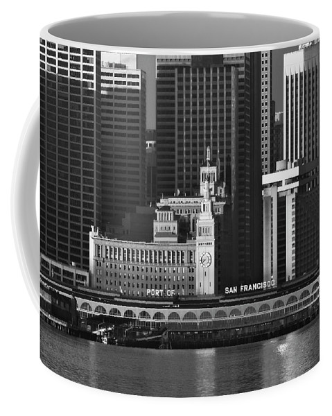 Port Coffee Mug featuring the photograph Port Of San Francisco by Mick Burkey