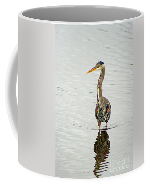 Blue Heron Coffee Mug featuring the photograph Port Townsend Blue Heron by Louise Magno