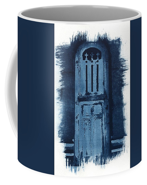 Cyanotype Coffee Mug featuring the photograph Portals by Jane Linders