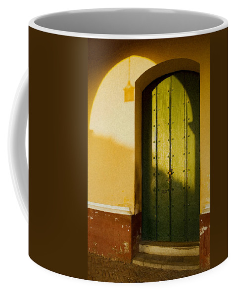 Caribbean Coffee Mug featuring the photograph Porte Verte by Pierre Logwin