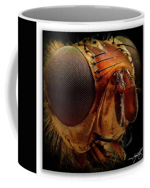 Dragonfly Coffee Mug featuring the photograph Portrait 1 by Ingrid Smith-Johnsen