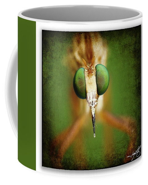 Dragonfly Coffee Mug featuring the photograph Portrait 11 by Ingrid Smith-Johnsen