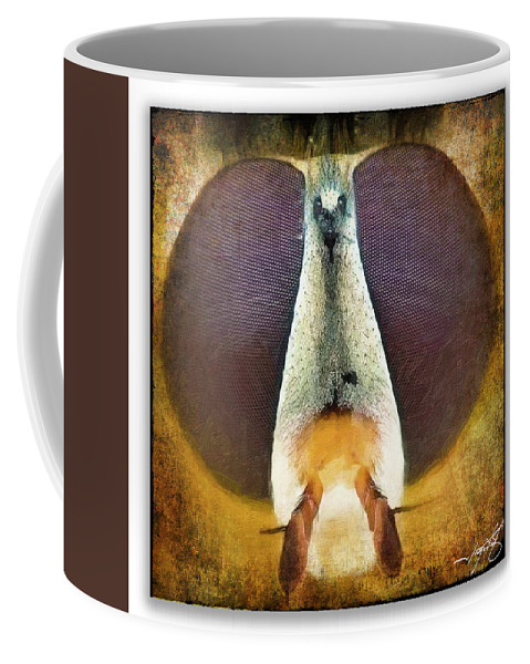 Ragonfly Coffee Mug featuring the photograph Portrait 27 by Ingrid Smith-Johnsen