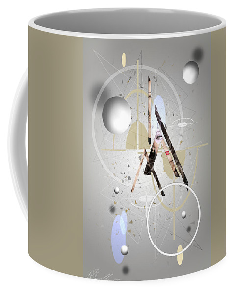 Abstract Coffee Mug featuring the digital art Portrait Abstract by Svetlana Sewell