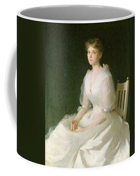 American Artist Coffee Mug featuring the painting Portrait In White by Frank Weston Benson