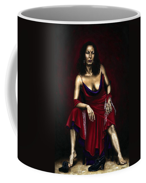 Portrait Coffee Mug featuring the painting Portrait Of A Dancer by Richard Young