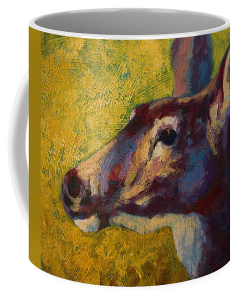 Deer Coffee Mug featuring the painting Portrait Of A Doe by Marion Rose