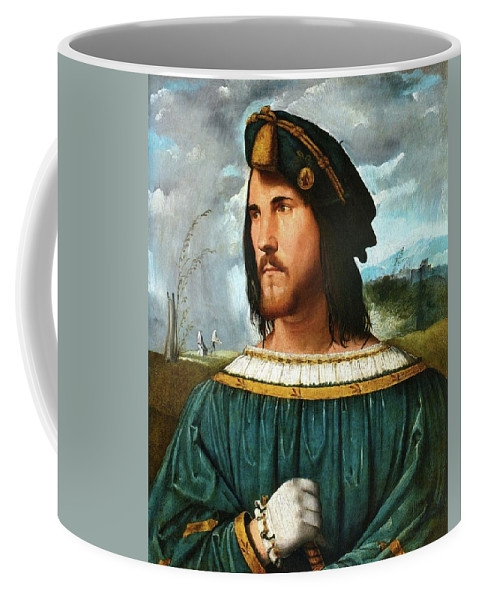Coffee Mug featuring the painting Portrait Of A Gentleman by Altobello Melone
