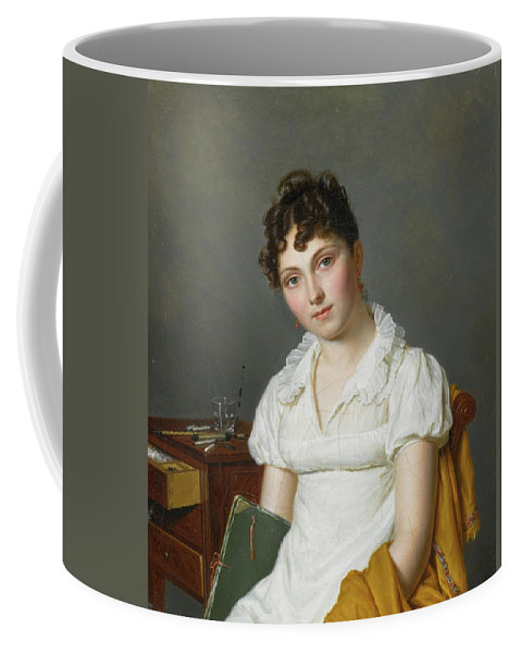 Pierre Louis Bouvier Portrait Of A Lady Coffee Mug featuring the painting Portrait Of A Lady Half Length by MotionAge Designs