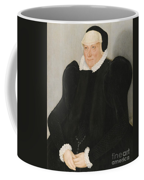 Lucas Cranach The Younger Coffee Mug featuring the painting Portrait Of A Lady by MotionAge Designs