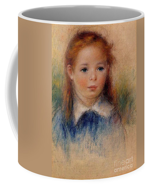 Pierre-auguste Renoir Coffee Mug featuring the painting Portrait Of A Little Girl by MotionAge Designs