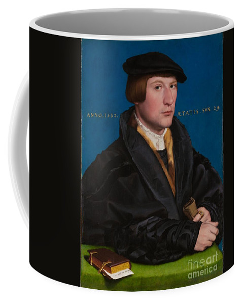 Hans Holbein The Younger Coffee Mug featuring the painting Portrait Of A Member Of The Wedigh Family by MotionAge Designs