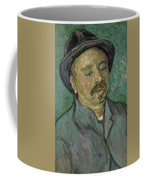Man Coffee Mug featuring the painting Portrait Of A One Eyed Man Saint Remy De Provence Autumn 1889 Vincent Van Gogh 1853 1890 by Artistic Panda