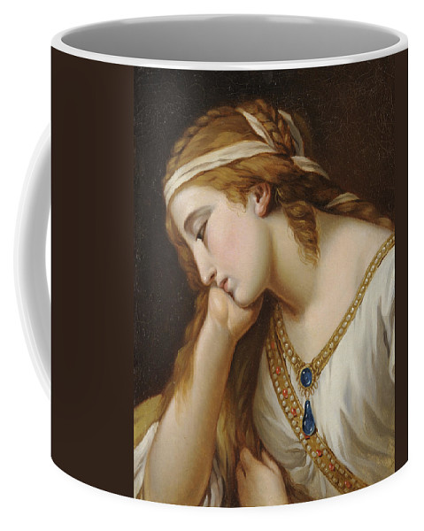 Portrait Of A Woman As An Allegorical Figure Coffee Mug featuring the painting Portrait Of A Woman As An Allegorical Figure by MotionAge Designs